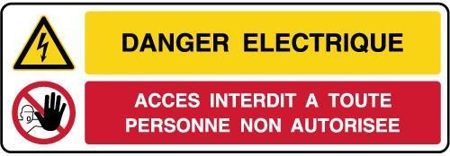 Pictogramme danger electrique
